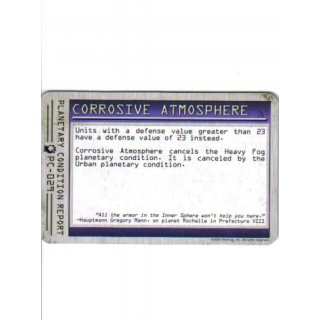 Planetary Condition Report: Corrosive Atmosphere