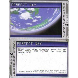 Planetary Condition Report: Perfect Day