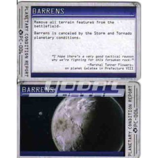 Planetary Condition Report: Barrens