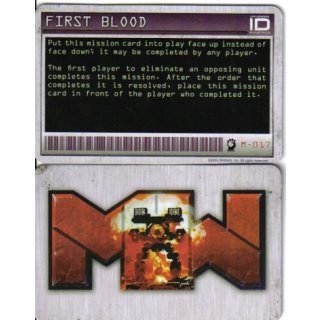 M-017 First Blood - Mission