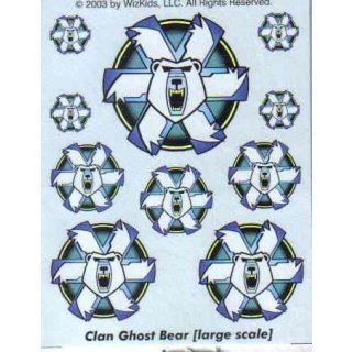Clan Ghost Bear large scale Decals