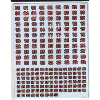 Zweifarbige Nummern - schwarz/rot - Decals