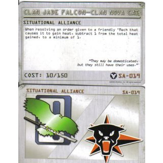 Situational Alliance: Clan Jade Falcon - Clan Nova Cat