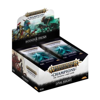 Warhammer Age of Sigmar: Champions Wave 2: Onslaught Booster Display (24) englisch + OP Booster