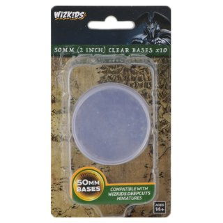 WZK DC: Clear 50mm Round Base (10ct.)
