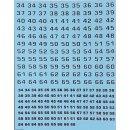 Zweifarbige Nummern - weiß/schwarz - Decals