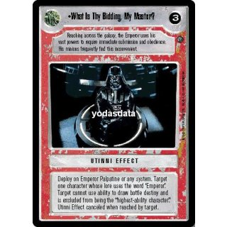 What Is Thy Bidding, My Master? FOIL